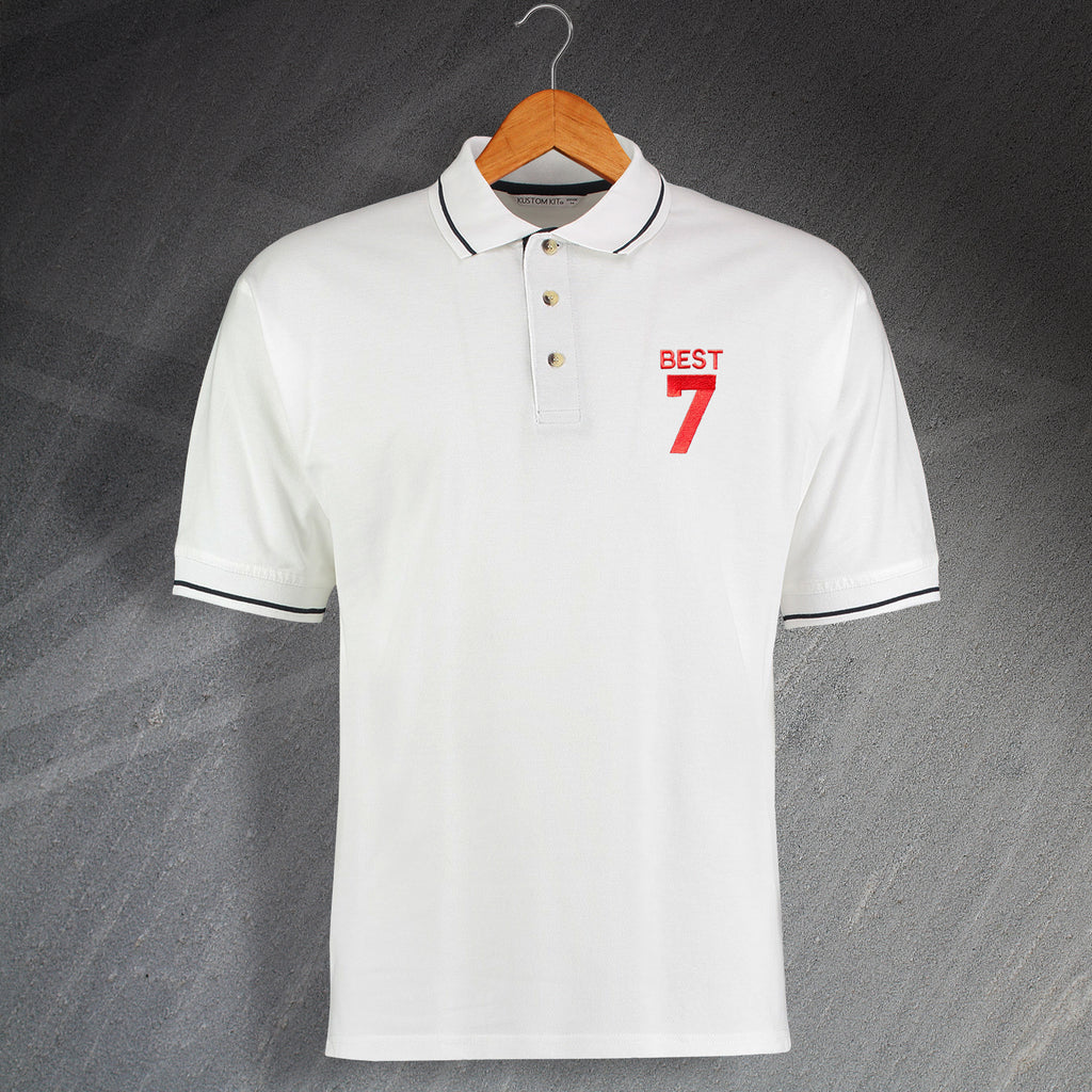4dbebd86 George Best Shirt | Retro Embroidered United Polo Shirts for Sale ...