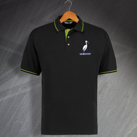 Retro Biggleswade Embroidered Contrast Polo Shirt