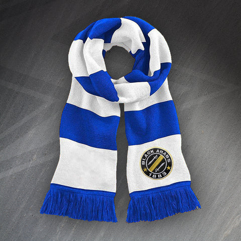 Bristol Rovers Football Bar Scarf Embroidered Black Arabs