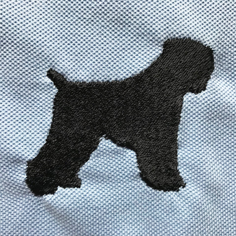 Black Russian Terrier Embroidered Badge