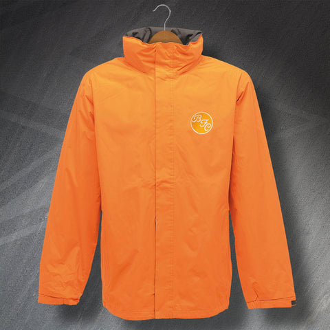 Retro Blackpool Waterproof Jacket with Embroidered Badge