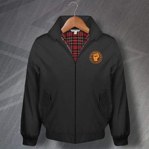 AFC Blackpool Football Harrington Jacket Embroidered The Mechanics Pride of Lancashire
