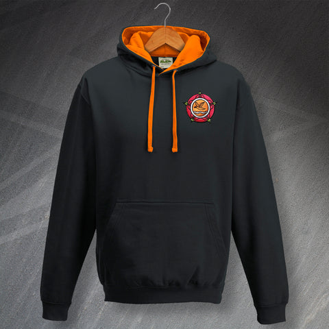 Blackpool Football Hoodie Embroidered Contrast 1987