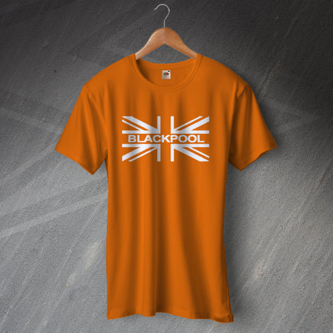 Blackpool Football T-Shirt Union Jack