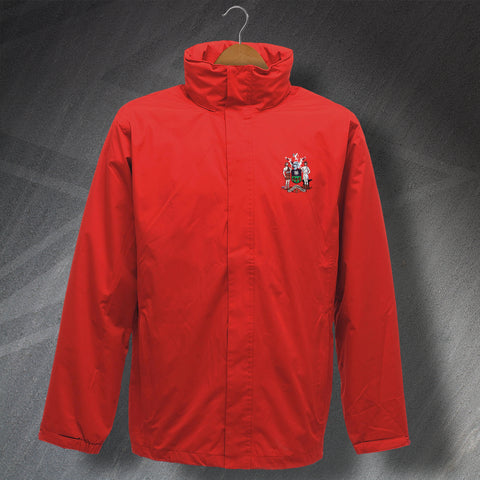 Retro Sheffield Waterproof Jacket with Embroidered Badge