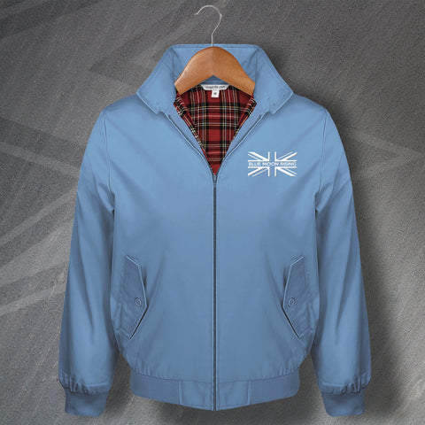 Man City Football Harrington Jacket Embroidered Blue Moon Rising Union Jack