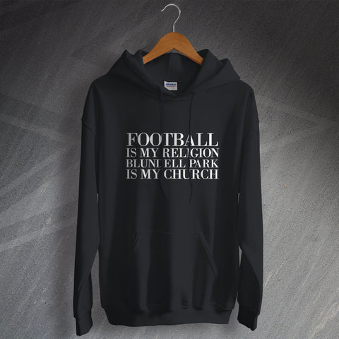 Grimsby Football Hoodie Football is My Religion Blundell Park is My Church