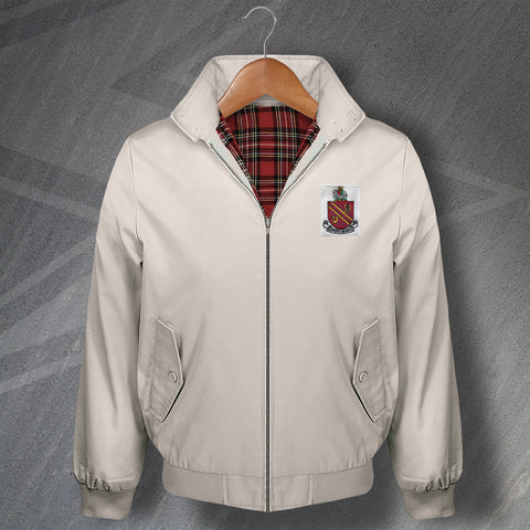 Retro Bolton Classic Harrington Jacket with Embroidered 1921 Badge