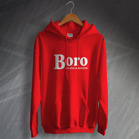 Stevenage Football Hoodie Boro Believe & Achieve