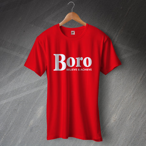 Middlesbrough Football T-Shirt Boro Believe & Achieve