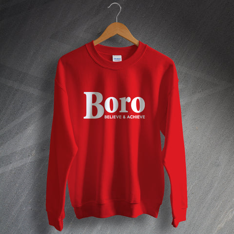 Stevenage Football Sweatshirt Boro Believe & Achieve