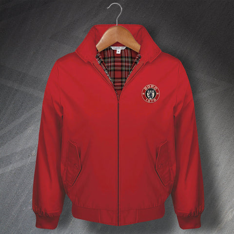 Retro Boro Classic Harrington Jacket with Embroidered 1876 Badge