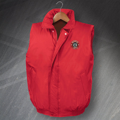 Retro Boro Padded Bodywarmer with Embroidered 1876 Badge