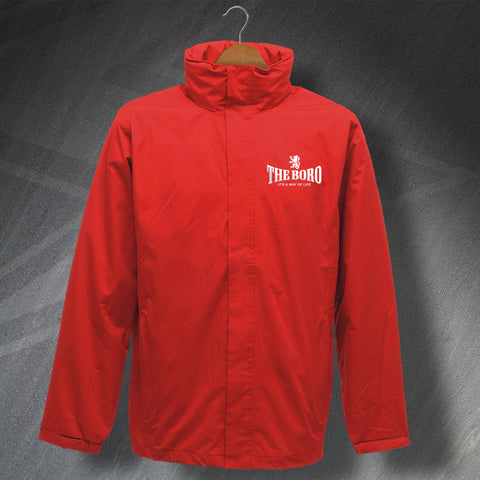 Middlesbrough Football Jacket Embroidered Waterproof The Boro It's a Way of Life