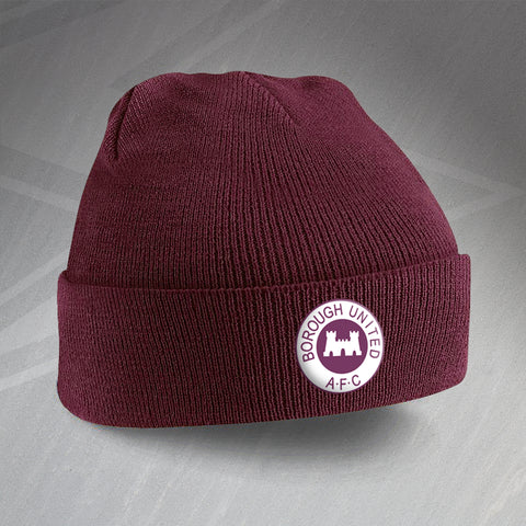 Borough United Football Beanie Hat Embroidered