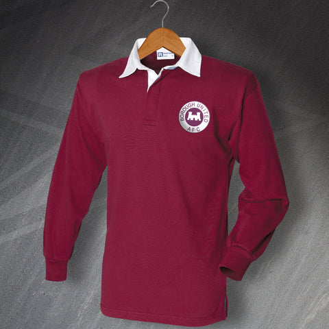 Borough United Football Shirt Embroidered Long Sleeve