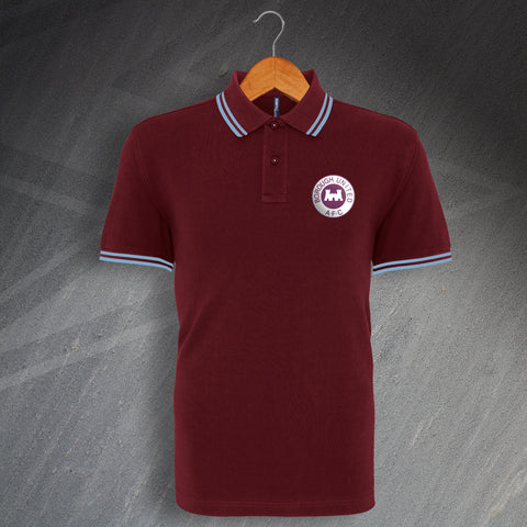 Borough United Football Polo Shirt Embroidered Tipped