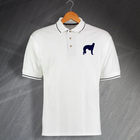 Borzoi Embroidered Contrast Polo Shirt