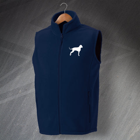 Boxer Dog Fleece Gilet Embroidered