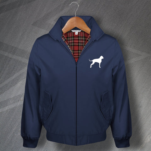 Boxer Dog Harrington Jacket Embroidered