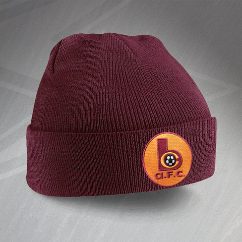 Retro Bradford Beanie Hat with Embroidered Badge