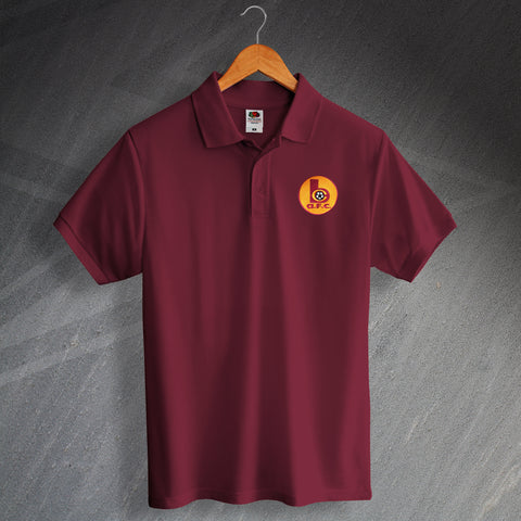 Retro Bradford Polo Shirt with Embroidered Badge