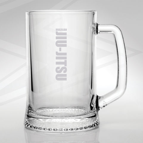 Brazilian Jiu-Jitsu Engraved Glass Tankard