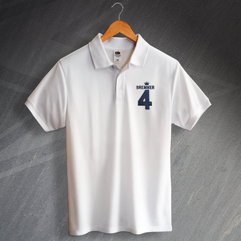 Leeds Football Polo Shirt Embroidered Bremner 4