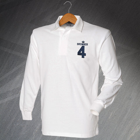 Leeds Football Shirt Embroidered Long Sleeve Bremner 4