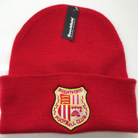 Brentford Football Beanie Hat Embroidered 1971