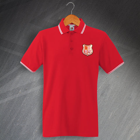 Retro Brentford Embroidered Tipped Polo Shirt