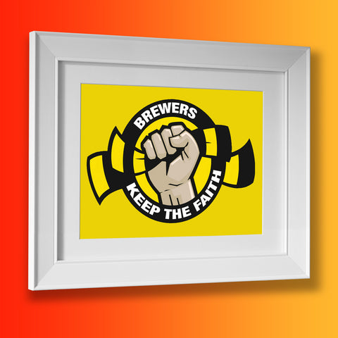 Brewers Keep The Faith Framed Print