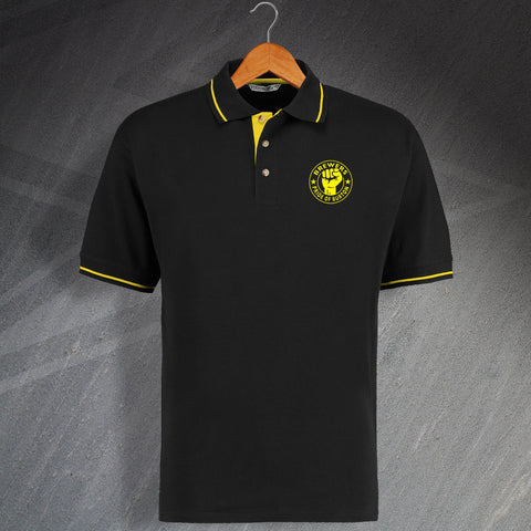 Brewers Pride of Burton Embroidered Contrast Polo Shirt