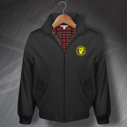 Burton Football Harrington Jacket Embroidered Brewers Pride of Burton