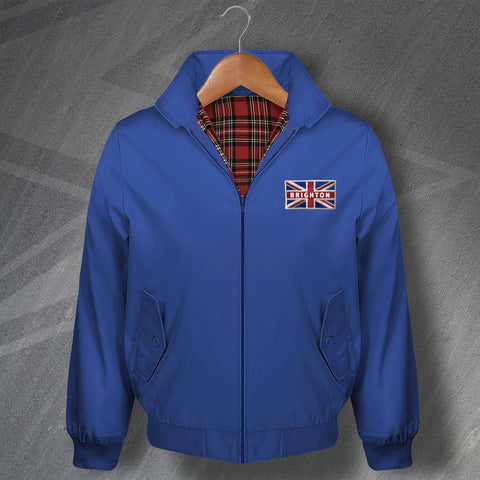 Brighton Embroidered Union Jack Flag Classic Harrington Jacket