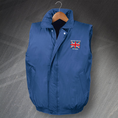 British Forces Veteran Embroidered Gilet