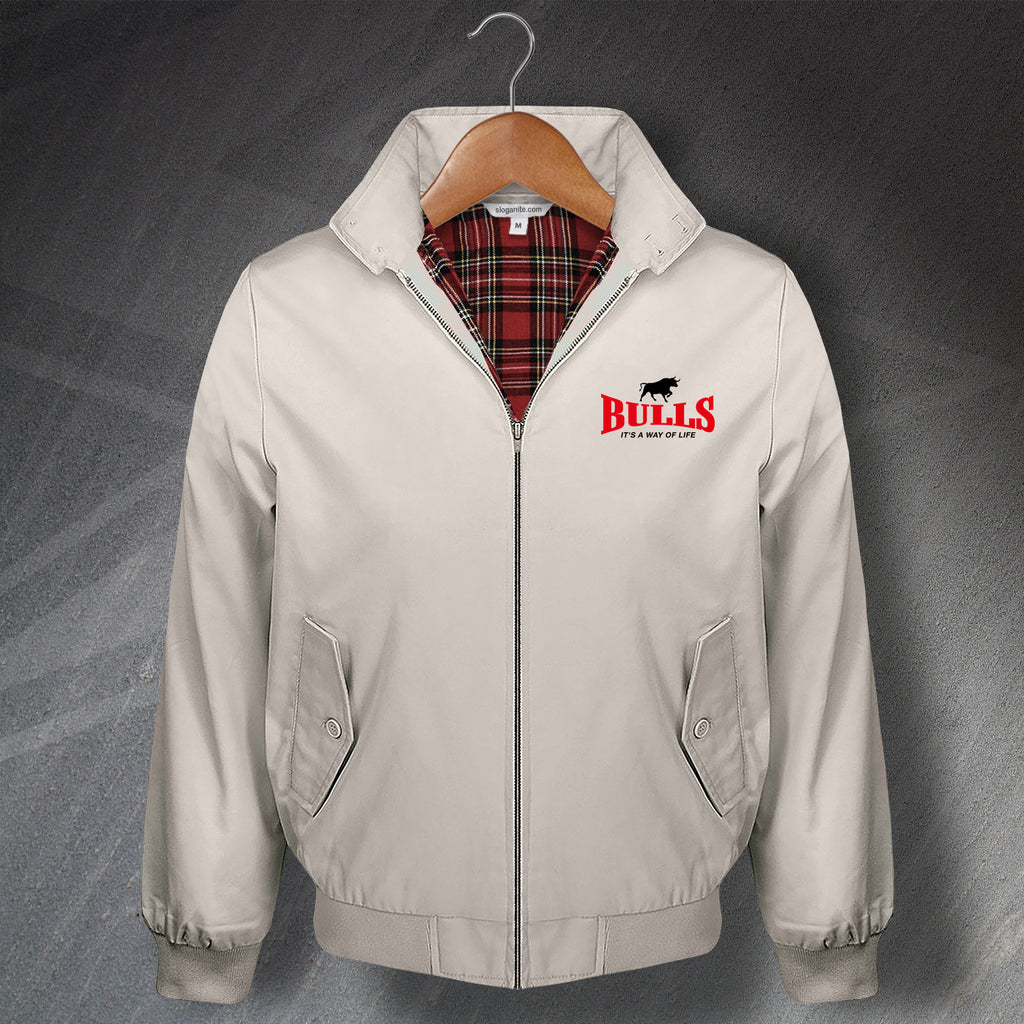 Bulls It's a Way of Life Embroidered Classic Harrington Jacket