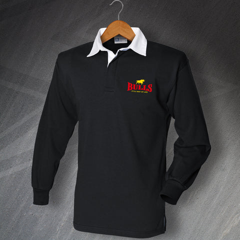 Bulls It's a Way of Life Embroidered Rugby Shirt