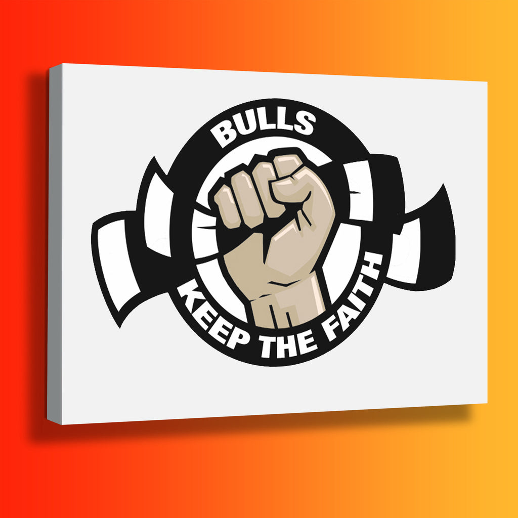 Bulls Keep The Faith Canvas Print