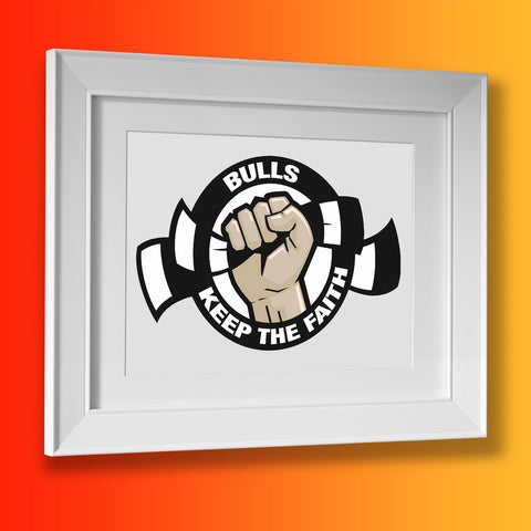Bulls Keep The Faith Framed Print