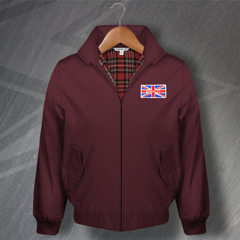 Burnley Football Harrington Jacket Embroidered Union Jack