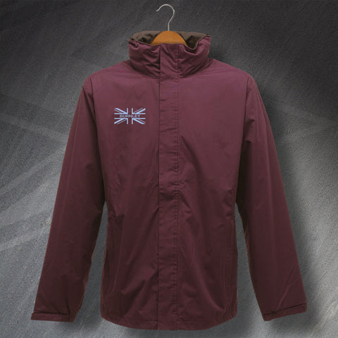 Burnley Waterproof Jacket with Embroidered Union Jack Flag
