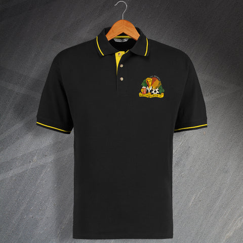 Retro Burton Embroidered Contrast Polo Shirt