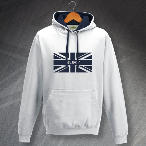 Bury Football Hoodie Contrast Union Jack