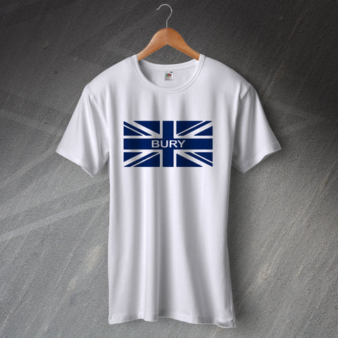 Bury Football T-Shirt Union Jack