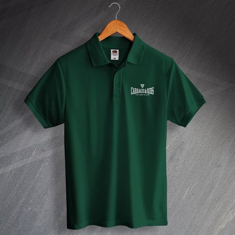 Hibs Football Polo Shirt Embroidered Cabbage & Ribs It's a Way of Life