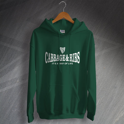 Hibs Football Hoodie Cabbage & Ribs It's a Way of Life