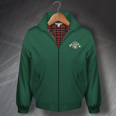 Hibs Football Harrington Jacket Embroidered Cabbage & Ribs Keep The Faith