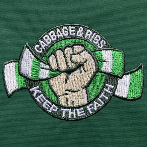 Cabbage & Ribs Keep The Faith Embroidered Badge