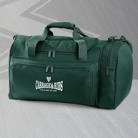 Hibs Football Holdall Embroidered Cabbage & Ribs It's a Way of Life
